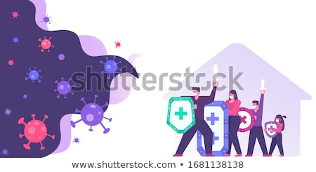 Stock photo: fight family vector