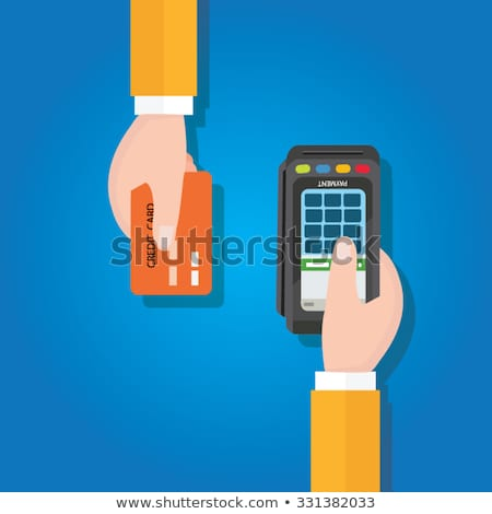 Credit Card Processing Icon. Flat Design. Stock photo © WaD