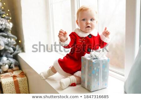счастливым · мало · ребенка · костюм · рождество · дерево - Сток-фото © len44ik