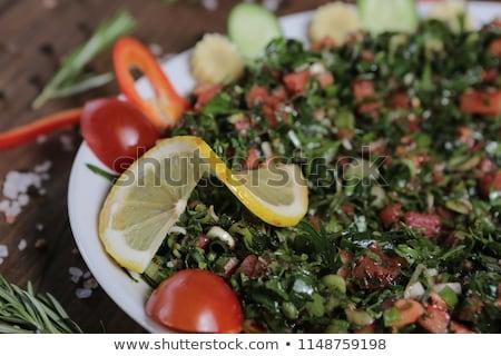 Stock fotó: Friss · török · juhász · saláta · olajbogyók · színes