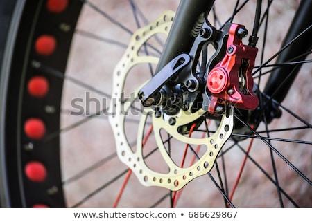 Kırmızı siyah dağ bisiklet Stok fotoğraf © ziprashantzi