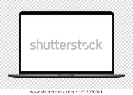 Fekete laptop izolált fehér monitor másolat Stock fotó © Alsos