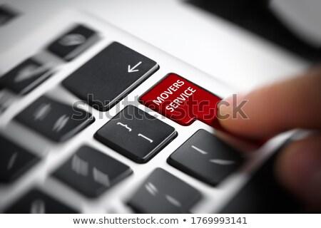 Press Button Content Services on Black Keyboard. Stock photo © tashatuvango