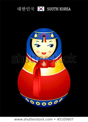Matryoshka Korean girl Stock photo © sahua