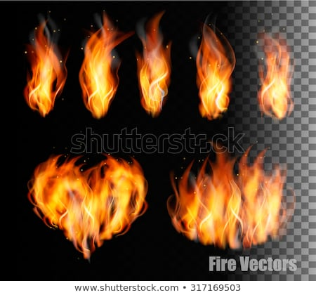 chamejante · coração · fogo · abstrato · arte · vermelho - foto stock © kirill_m