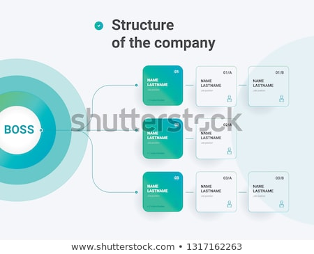 Company hierarchy diagram template Stock photo © orson