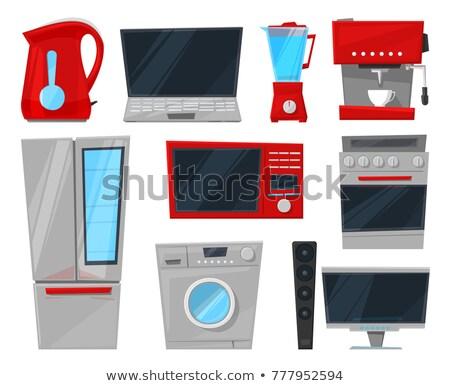 casa · diseno · lavadora · aparatos · de · cocina - foto stock © robuart