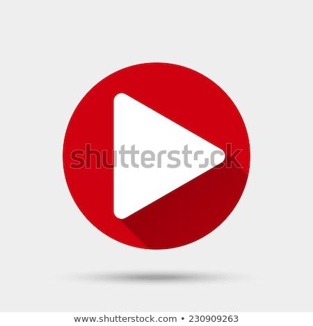 Játék gomb tv ikon terv illusztráció Stock fotó © kiddaikiddee
