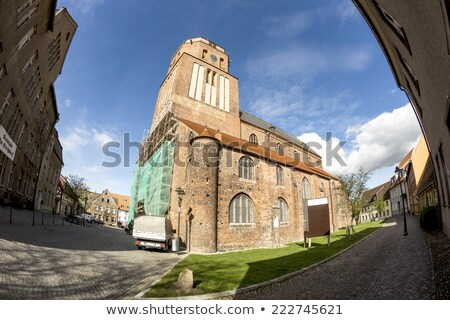 gothic St Petri church in Wolgast under blue sky Stock photo © meinzahn