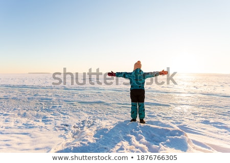 Child outstretched against the sky Stock photo © zurijeta