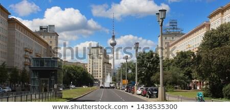 Berlijn Duitsland straat teken weg straat Blauw Stockfoto © meinzahn