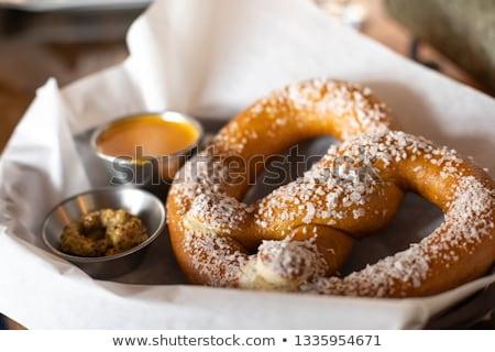 ソフト プレッツェル キャラウェー 種子 塩 パン ストックフォト © Digifoodstock