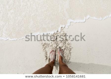 pé · areia · feminino · engraçado · curva · dedos - foto stock © dmitroza