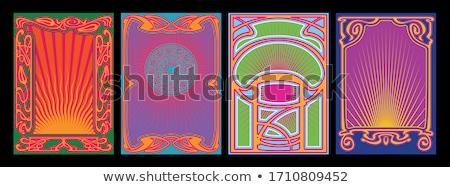 Zene poszter sablon musical jegyzetek absztrakt Stock fotó © pakete