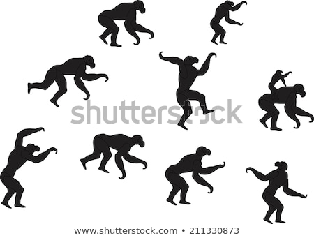 monkey silhouette in various poses Stock photo © Istanbul2009