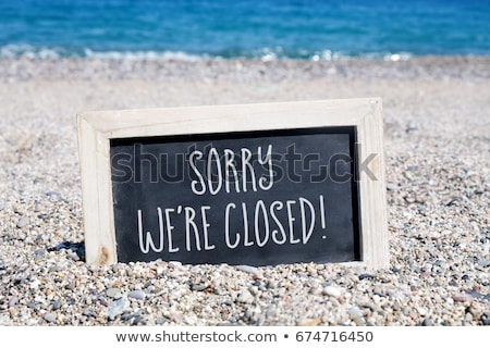 We are closed written on a blackboard Stock photo © Zerbor