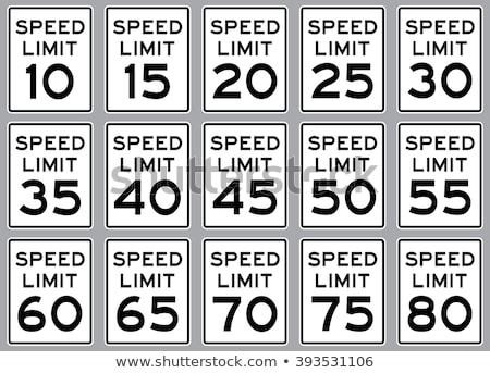 20 mil sürücü hız limiti imzalamak karayolu Stok fotoğraf © stevanovicigor