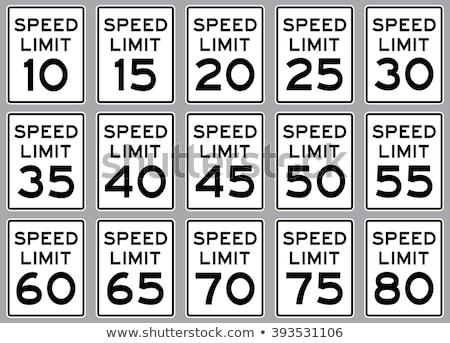 20 mph rijden snelheidslimiet teken snelweg Stockfoto © stevanovicigor