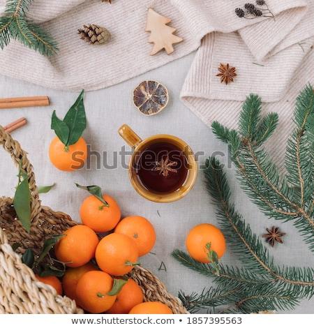 чай апельсинов Cookies изолированный белый Кубок Сток-фото © goir