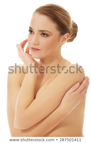 topless woman body covers her breasts stock photo © aikon