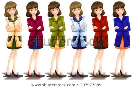 女性 異なる ブレザー 白 光 背景 ストックフォト © bluering