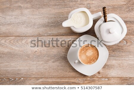 Brown and white sugar on the wooden background Stock photo © Alex9500