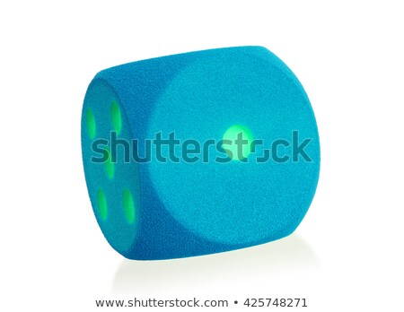 Large blue foam die isolated - 1 Stock photo © michaklootwijk