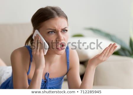 furioso · mujer · de · negocios · aislado · blanco · cara - foto stock © stevanovicigor