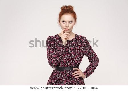 mulher · opções · isolado · branco - foto stock © sapegina