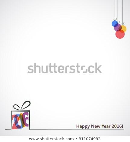 En az 2016 happy new year dizayn mutlu arka plan Stok fotoğraf © SArts