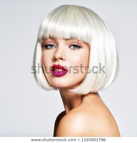 portrait of the blonde with the fringe  Stock photo © konradbak