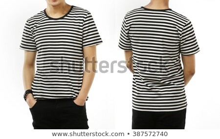 Front of the clean striped T-Shirts (Polo).  Stock photo © kayros