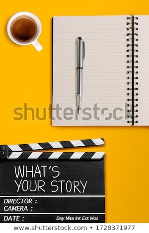Tahta metin ne öykü iş siyah Stok fotoğraf © Zerbor