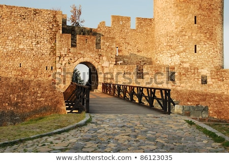 Details of stone fortress  in Belgrade Stock photo © simply