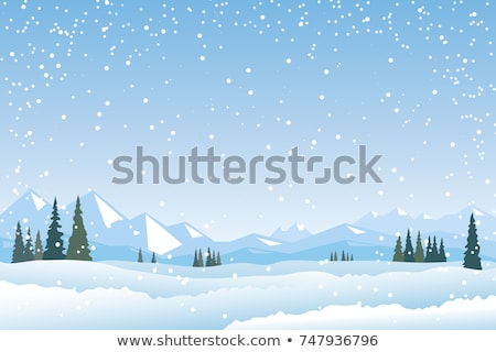 mountain landscape web banner skiing scinery stock photo © robuart