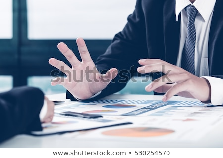 Stock photo: Businessman  hands explaining