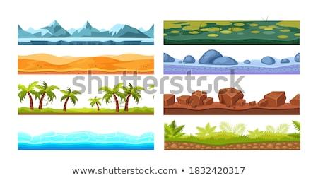 Naadloos palmbomen ondergrondse scène illustratie boom Stockfoto © bluering