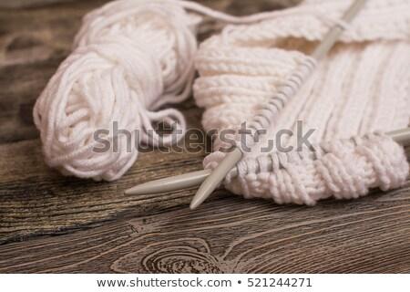 アイテム 針 木材 裁縫 冬 ストックフォト © dolgachov