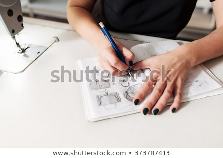 Tailor drawing sketches Stock photo © dash