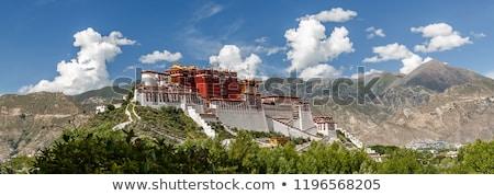 Paisagem tibete rio montanhas água nuvens Foto stock © bbbar