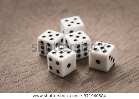 Five gaming dice Stock photo © Cipariss