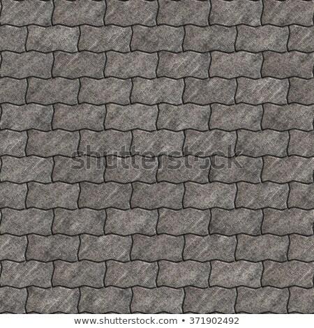 серый волнистый бесшовный текстуры строительство улице Сток-фото © tashatuvango
