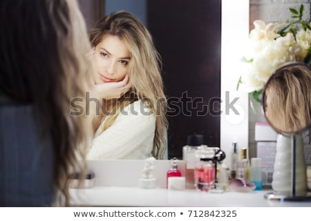 красивой зеркало помада Sexy Сток-фото © julenochek