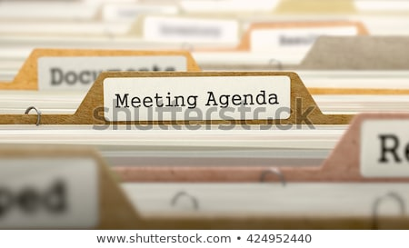 Folder Register with Agenda. 3D Rendering. Stock photo © tashatuvango