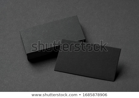 mock up business template with cards papers gray background stock photo © master1305
