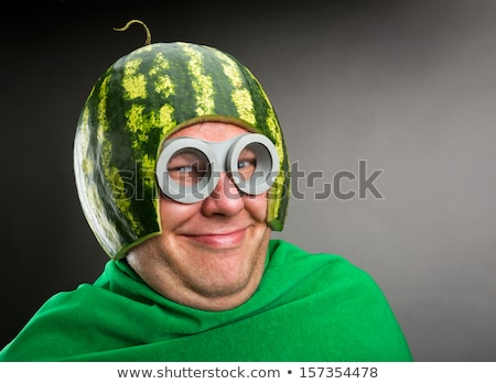 Foto stock: Verde · lagarta · cara · feliz · ilustração · sorrir · arte