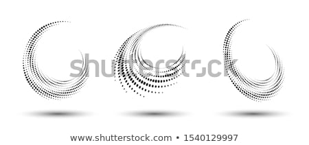 halftone dots in perspective background stock photo © SArts