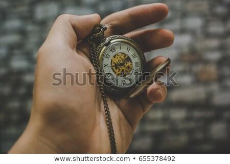 velho · relógio · castelo · céu · tempo · pedra - foto stock © stefanoventuri