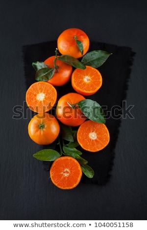 Plaat rijp vruchten bladeren witte achtergrond Stockfoto © Digifoodstock