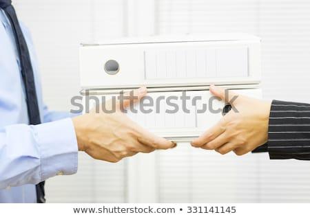 Bureaucratie public bureaux papier fichier temps Photo stock © Fotografiche